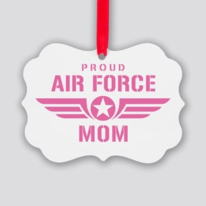 Proud Air Force Mom W [pink] Picture Ornament
